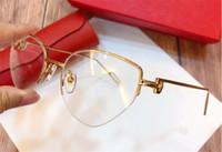 Nuevo diseñador de moda marco gato ojo k oro medio marco retro estilo moderno 0157 Unisex se puede utilizar para lentes de prescripción gafas