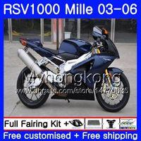 Karosserie Für Aprilia RSV 1000R 1000 RV60 Mille 2003 2004 2005 2006 Dunkelblaues Licht 316HM.31 RSV1000RR RSV1000R RSV1000 R RR 03 04 05 06 Verkleidungen