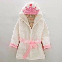 Toddler Kids Peignoir Mode Crown Coplay Robe Flanel pour 6-48 mois Enfant Garçons Filles Soft Fourrure De Sleep Home Vêtements maison