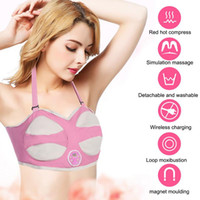 حار بيع الكهربائية الثدي محسن الصدرية التدفئة بالأشعة تردد الاهتزاز مدلك مشجعا الجمال جمال آلة تكبير الثدي