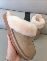 pantoufles en coton hommes femmes bottes de neige chaudes occasionnels pyjamas d'intérieur fête porter des chaussures en coton antidérapantes grande taille chaussures pour femmes taille 35-45