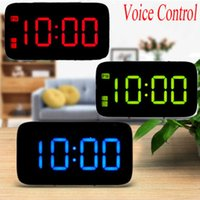 Digital LED Alarm Clock Large Screen Snooze Battery Powered ...