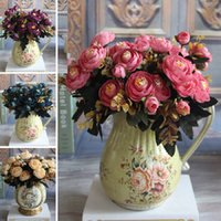 Vivid 6 Branches Artificial Fake Peony Flower Home Room Brid...