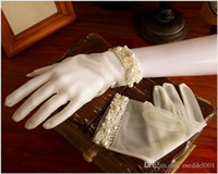 2019 Fashion Ivory Lace Bridal Fingerless Gloves Woman Long ...