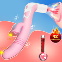 Lengua Vibrador para las mujeres Calefacción Nipple Sucker apretado orales clítoris Relamerse Estimular Masturbarse erótica el sexo juega para la mujer SH190725