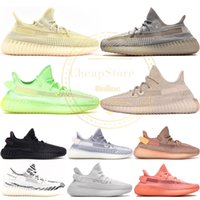 Kanye West Antlia Synth Reflektierende Gid Glow Schwarz True Form Clay Static Männer Frauen Laufschuhe Zebra Lundmark Athletics Sneakers 5-13