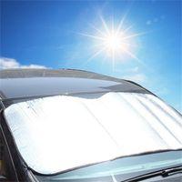 عالمي كبير الحجم 220 * 70CM سيارة الشمس الجبهة الظل نافذة ظلة يغطي حاجب الشاشة درع لسيارات الدفع الرباعي