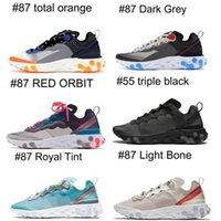 2019 Vendita calda Epic React Element 87 con scatola rossa Scarpe da corsa Total Orange Royal Tint Women 87 Desert Spedizione gratuita