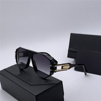 Nouveaux Lunettes de soleil Populaires Hommes Pilote 163 Cadre creux rectangulaire Sunglasses Mode Style de conception simple avec étui de lunettes originales