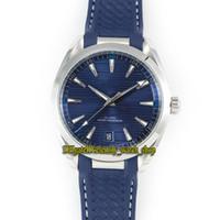 SSS Fábrica Aqua Terra 150m Série 220.12.41.21.03.001 Azul Dial 8900 Mecânica Mens Automatic Relógios 316L-Steel Case Sport Relógios