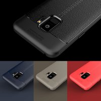 Ricestate Litchi 가죽 케이스 삼성 Galaxy S8 S9 10 Lite Note 8 9 S7 엣지 커버 J4 J6 J8 A6 Plus 2018 소프트 실리콘 케이스