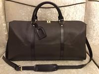 2019 جديد الأعلى بو أزياء الرجال النساء براون حقيبة سفر واق حقيبة مصمم حقائب الأمتعة حقيبة رياضية سعة كبيرة حقيبة 65 سنتيمتر # 3518
