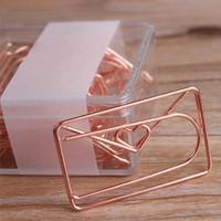 20pcs office paper clip love bowknot placcatura a forma di speciale modellazione di modellazione regalo bookmark facile uso mini accessori per la scuola studio