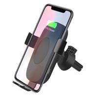 C10 / C9 자동차 전화 홀더 무선 충전기 10W 자동 infrare 유도 아이폰 8 플러스 x 삼성 화웨이에 대 한 자동 infrare 유도 공기 통풍 Qi 무선 충전기