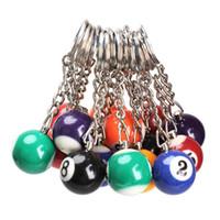16pcs / lot bola de bilhar chaveiro porta Rodada Pingente Car Keychain charme jóia Chaveiros Acessórios de várias cores