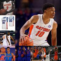 2020 Florida Gators Stats Basketball Jersey NCAA Keyontae Johnson Noah Locke Tre Mann Scottie Lewis Nembhard Omar Payne Noah