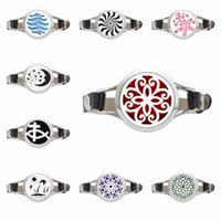 30mm Diffuser Locket Watch Bracelet PU Leather Wristband Flo...