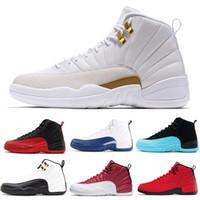 2019 새로운 농구 신발 (12) 12S 남성 신발 DOERNBECHER FIBA 역 택시 게임 로얄 프랑스어 블루 남성 트레이너 야외 스니커즈 DL344