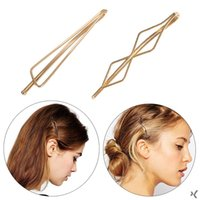 Metal Women Girls Gold Plated Triangle Diamond Hair Clips Me...
