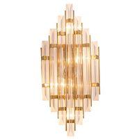 Yeni Modern duvar İskandinav kristal cam duvar aplik lamba koridor altın lüks dekorasyon E14 LED ampul duvar Işık monte lambalar