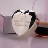Grande scatola dell'anello di cerimonia nuziale su misura, scatola del portatore di anello dell'anello del metallo del nastro di aggancio di nozze / biglietti di S. Valentino su misura del nastro