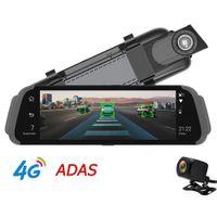 """10"""" IPS полное зеркало автомобильный видеорегистратор 4G Android GPS навигатор ADAS FHD 1080P зеркало заднего вида камеры двойной объектив Bluetooth G-сенсор онлайн слежения приложение"""