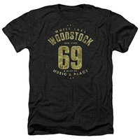 Woodstock 69 White Lake New York Adult Heather Adult Black C...