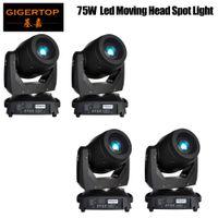 4XLOT 75W LED Spot Head Head Lights DJ Controller para el escenario Bar Disco Party DJ Boda Envío gratis DMX 512 Función 90V-240V