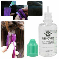 30ml fita credenciador de tape removedor de cola extensões de cabelo pré-ligado facil fácil