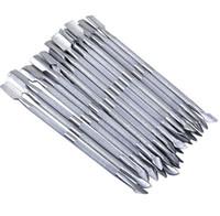 2 en 1 herramientas de arte de uñas cutícula esencial de acero inoxidable empujador de cuchara de 2 vías empujador de cutículas de manicura 500 piezas RRA1687