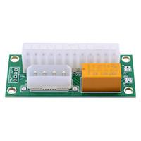 Bitcoin için 200pcs PC Masaüstü ATX 24-Pin Çift PSU Güç Senkron Başlat Extender Kablo Kart adaptörü