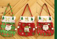 Новый Праздничный Санта-Клауса мешок Apple, конфеты мешок Новый год 2020 украшения для рождественской елки Рождественская сумка зима украшения снеговика