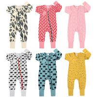 Neugeborene Strampler Baby-Kleidung Mädchen Jungen weicher Baumwolle gedruckt Langarm-Overall-Kleinkind-Spielanzug-Outfit