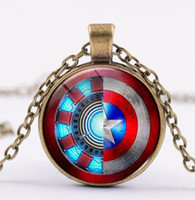 Europe and America Marvel Necklace Captain America Iron Man ...