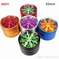 La hierba del tabaco de iluminación Grinder 4 piezas de 50 mm 55 mm 63 mm fuma de la aleación de aluminio amoladoras polen de prensa receptor de metal con ventana transparente DHL