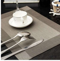 4 Pcs Placemat fashion pvc dining table mat disc pads bowl pad coasters waterproof table cloth