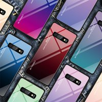 Degrade Temperli Cam Telefon Kılıfı Için Samsung Galaxy S10e S8 S9 S10 Artı Not 8 A5 2018 Arka Kapak Conque