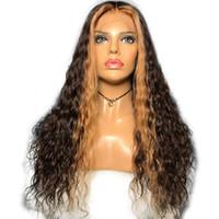 Volle Spitze Menschenhaarperücken Honig Blond Mit Braun Farbe Pre Zupferte Spitzefrontmenschenhaarperücken Für Frauen Brasilianische Reine Haarperücken