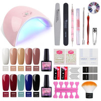 New 36W Lamp For Nail 10 Color UV Gel Nail Polish Kit Manicu...
