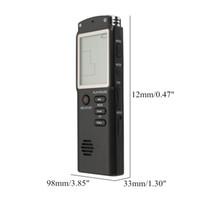 8GB 16GB قابلة للشحن USB الصوت الرقمي مسجل صوت الدكتافون مشغل MP3 - 16GB