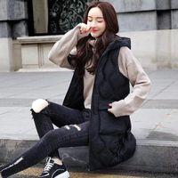 TiLeewon Зимняя куртка женщин жилет моды Содержать Теплый жилет 2019 Весна Женщины Любители Sexy Тонкий длинный Жилеты Plus Размер 2XL