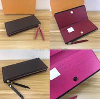 Wholesale klassische Damen lange Brieftasche für Frauen Multicolor Designer Geldbörse Kartenhalter Paket Original Damen Reißverschluss Brieftasche Tasche