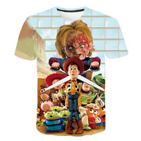 Latest fashion t shirt men women terror Clown Stephen King's It 3D printing t-shirts Harajuku style tshirt streetwear tops#8970