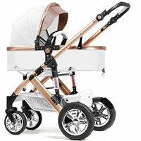 babyfond 2 en 1 cochecito de niño de cuero carro coche cochecito de bebé del bebé del verano del niño de cuero plegable de la luz qneK #