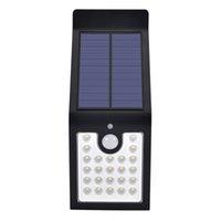 مصابيح الطاقة الشمسية LED أضواء استشعار الحركة السوبر مشرق مع وضع ديم لاسلكي للماء مضاد للماء ضوء الأمن لحديقة فناء ساحة الجدار