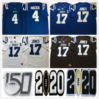 NCAA Duke Blue Devils College # 17 Daniel Jones Jersey Home azul preto branco 4 myles hudzick costurado 150th jerseys de futebol s-xxxl