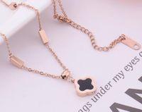 المجوهرات الفاخرة مصمم قلادة للنساء الصلب من التيتانيوم البرسيم قلادة قلادة هدية حزب الشحن مجانا