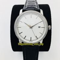 GB Лучшая версия Traditionnelle 85520 / 000R-9850 белый циферблат Япония Miyota 9015 Автоматические Мужские Часы Серебристые Diamonds Дело кожаный ремешок Часы