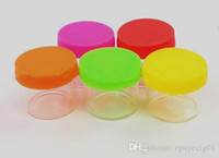 small glass jar clear with colorful silicone lid for wax dab...