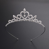 Vendita calda bella cristallo brillante nuziale Tiara Party Pageant argento placcato corona Hairband Accessori da sposa economici 2018 Nuovo Design
